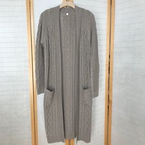 Margaret O'Leary long grey wool/cotton sweater
